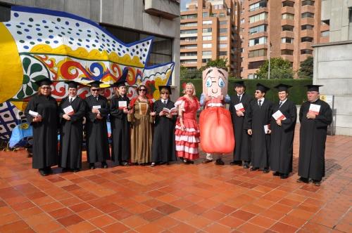 Los académicos acompañaron a la Real Academia Española de la Lengua en su tercer aniversario