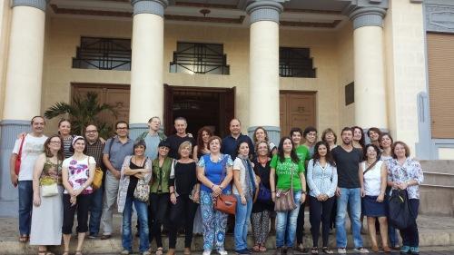 Los representantes de los Centros premiados fueron recibidos por autoridades de Melilla y responsables de la AECID
