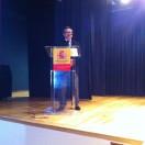El Agregado de Educación de la Embajada de España en Colombia don Manuel Lucena Giraldo en su intervención