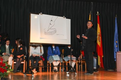 Betto ilustrando el Día del idioma 2017