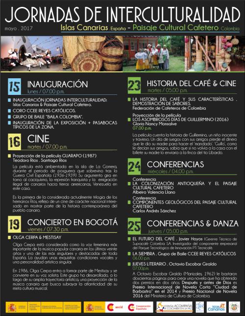 redes programa INTERCULTURALIDAD CANARIAS Y PAISAJE CAFETERO